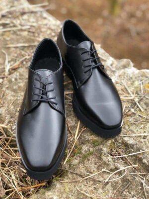 pantofi piele naturala clasic black