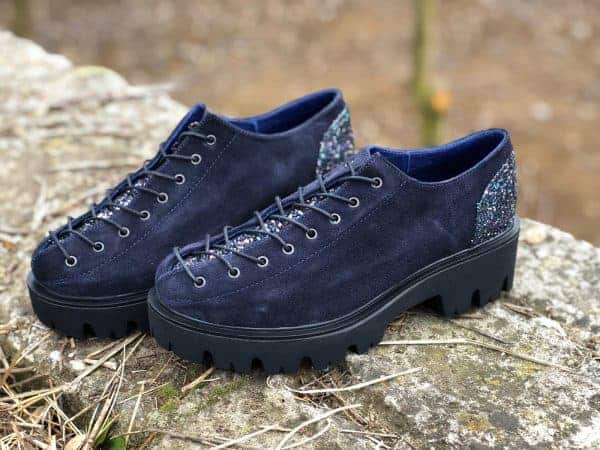 pantofi piele naturala nina blue