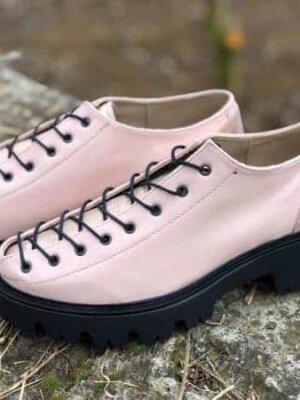 pantofi piele naturala nina rose