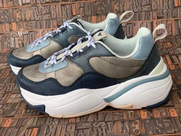sneakers piele naturala metalic blue4