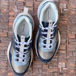 sneakers piele naturala metalic blue5