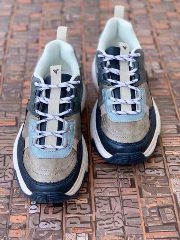 sneakers piele naturala metalic blue6