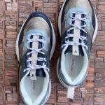 sneakers piele naturala metalic blue7