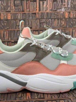 sneakers piele naturala victoria rosa