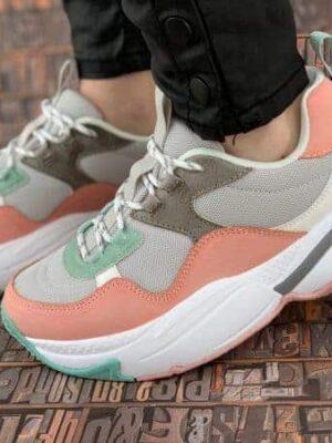 sneakers piele naturala victoria rosa2