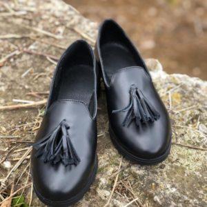 pantofi piele naturala bells black
