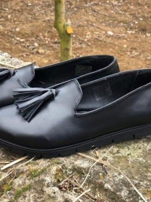 pantofi piele naturala bells black2