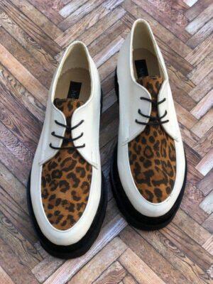 pantofi piele naturala madeline animal print2