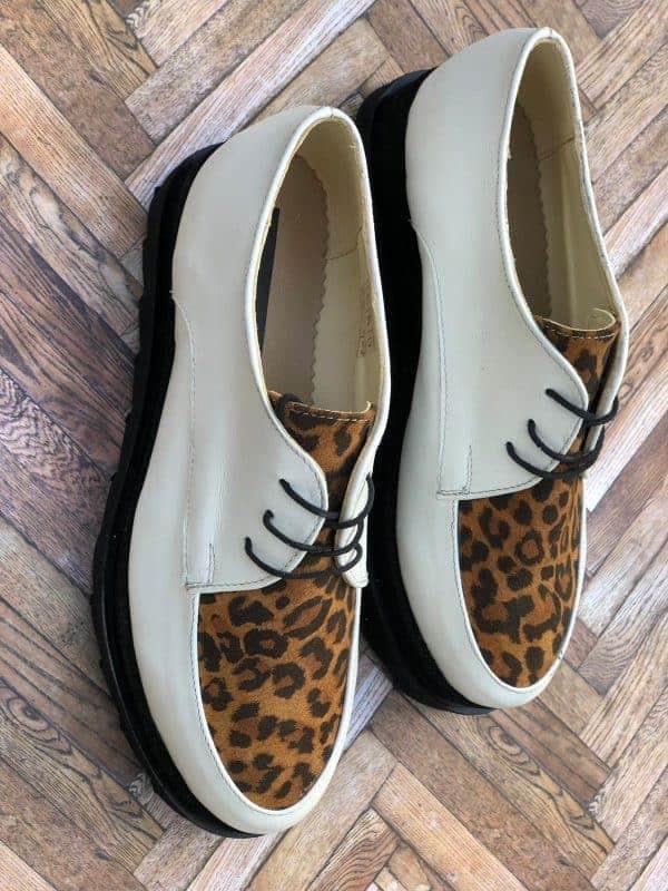 pantofi piele naturala madeline animal print3