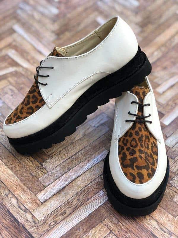pantofi piele naturala madeline animal print6