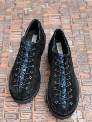 pantofi piele naturala nina black