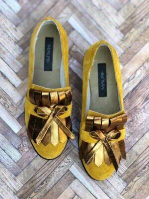 pantofi piele naturala romantic yellow2