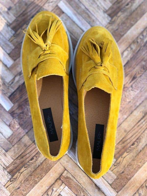 pantofi piele naturala yellow summer3