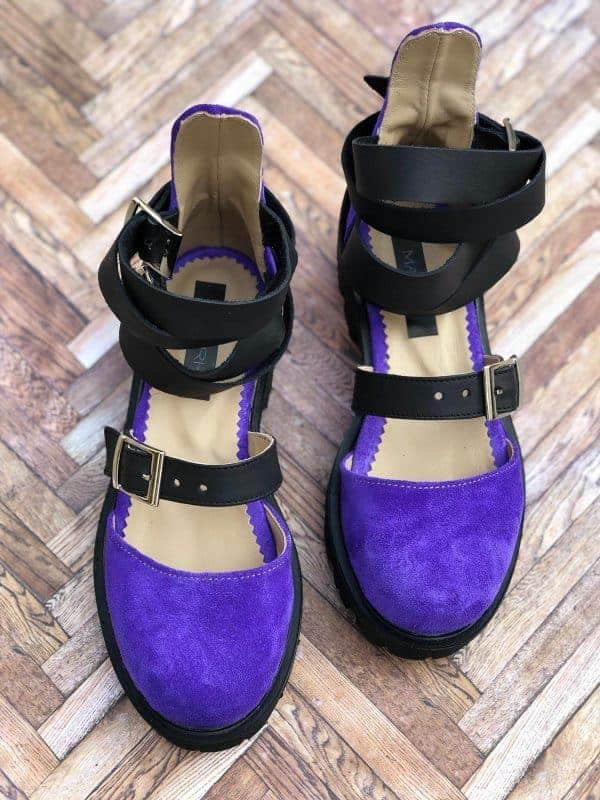 sandale piele naturala rock glamour purple3