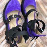 sandale piele naturala rock glamour purple7
