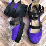 sandale piele naturala rock glamour purple8