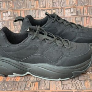 sneakers piele naturala all black