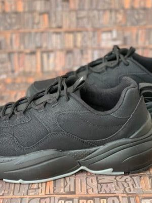 sneakers piele naturala all black2