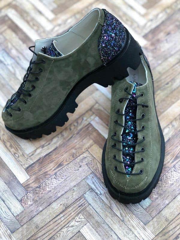pantofi piele naturala nina gren