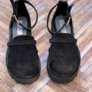 sandale piele naturala black
