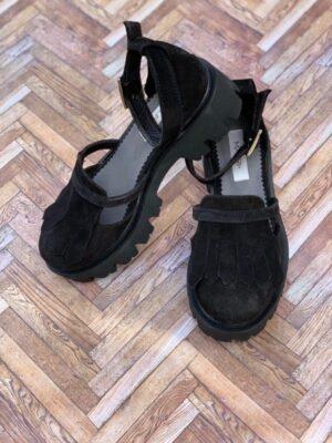 sandale piele naturala black2