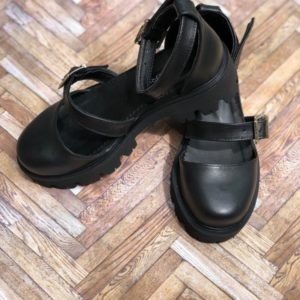 sandale piele naturala luiza black