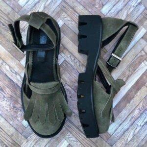 sandale piele naturala nature