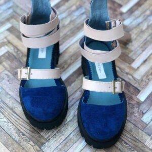 sandale piele naturala rock glamour electric