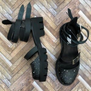 sandale piele naturala rock glamour galaxy