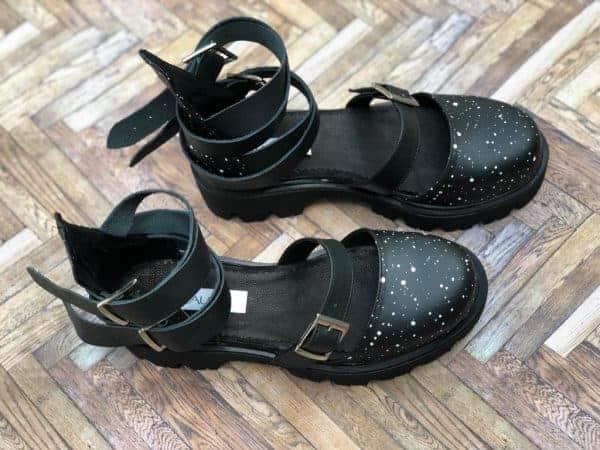 sandale piele naturala rock glamour galaxy4