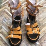 sandale piele naturala sparkle