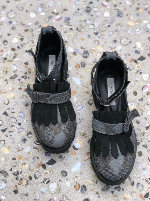 sandale piele naturala boa
