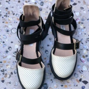 sandale piele naturala rock glamour aeurs