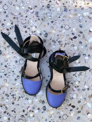 sandale piele naturala rock glamour rock purple2