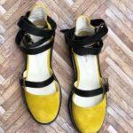 sandale piele naturala rock glamour yellow2