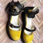 sandale piele naturala rock glamour yellow4