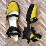sandale piele naturala rock glamour yellow6