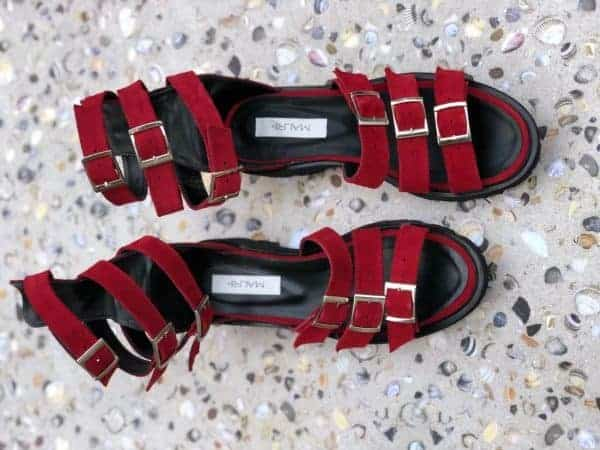 sandale piele naturala sparkle red2