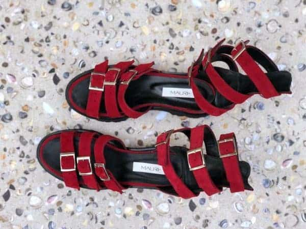 sandale piele naturala sparkle red3