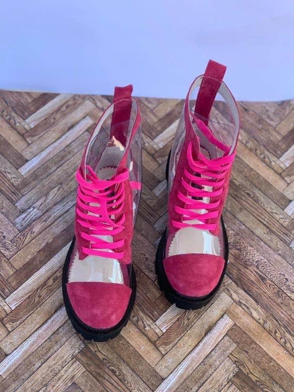 ghete piele naturala invisible pink5