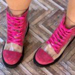 ghete piele naturala invisible pink6