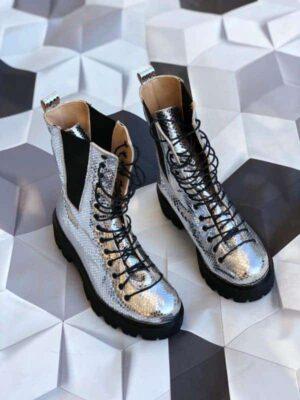 ghete piele naturala praga boots glitter
