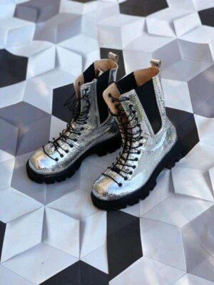 ghete piele naturala praga boots glitter2