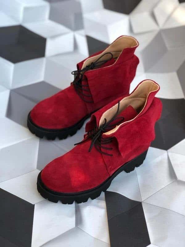 ghete piele naturala simone red4