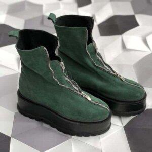 ghete piele naturala gia light green