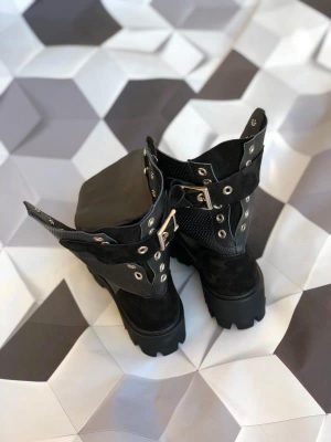 ghete piele naturala tokyo black2