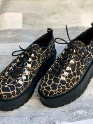 pantofi piele naturala isabel panther