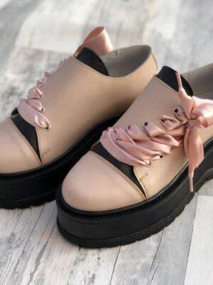 pantofi piele naturala juliet nude