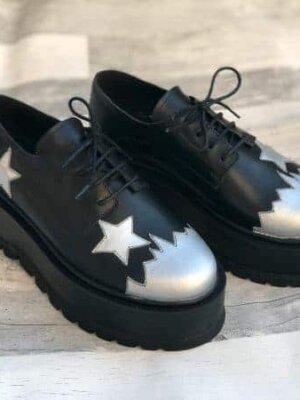 pantofi piele naturala superstar
