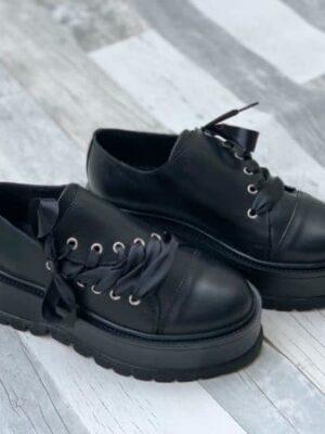 pantofi juliet all black piele naturala 2